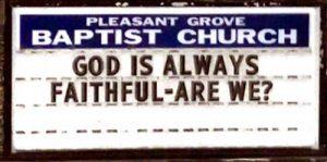God is Always Faithful - Are We?