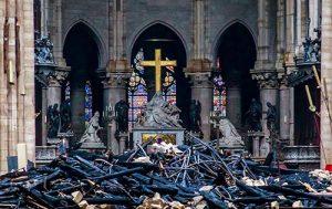 Notre Dame Glowing Cross